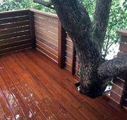 茨城県古河市のツリーハウスをイメージしたウッドデッキ施工
