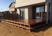 千葉県旭市の戸建てウッドデッキ1