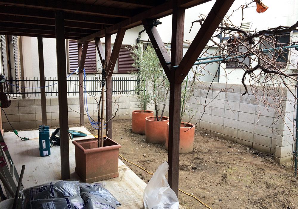 東京都江戸川区ウッドフェンス(施工前)