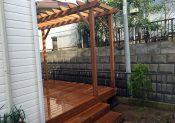 千葉県船橋市の戸建てウッドデッキ1