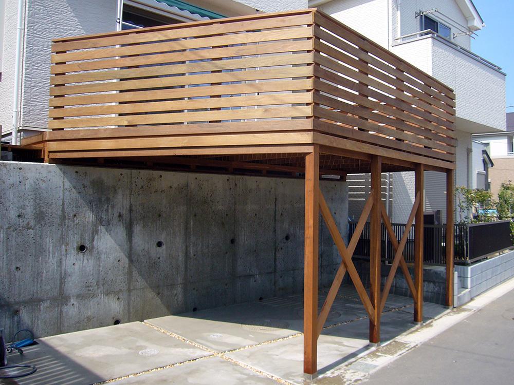 千葉県船橋市ガレージデッキ1入口