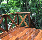 栃木県那須郡那須町の別荘でウリン材を使用したウッドデッキを施工