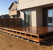 イタウバ材を使用した千葉県旭市の戸建てウッドデッキ施工例