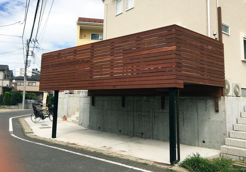 千葉県鎌ケ谷市ガレージデッキ1