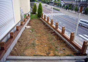 千葉県柏市の戸建てウッドデッキ基礎