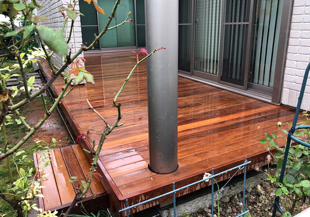 千葉県柏市の戸建てウッドデッキ11