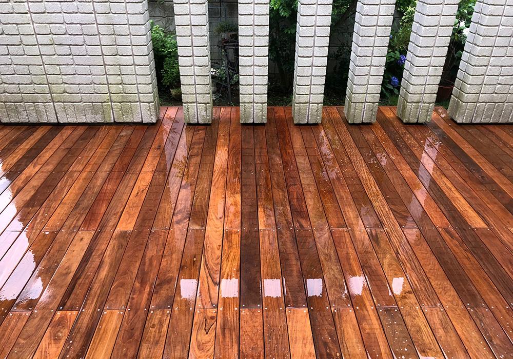 千葉県柏市の戸建てウッドデッキ11正面