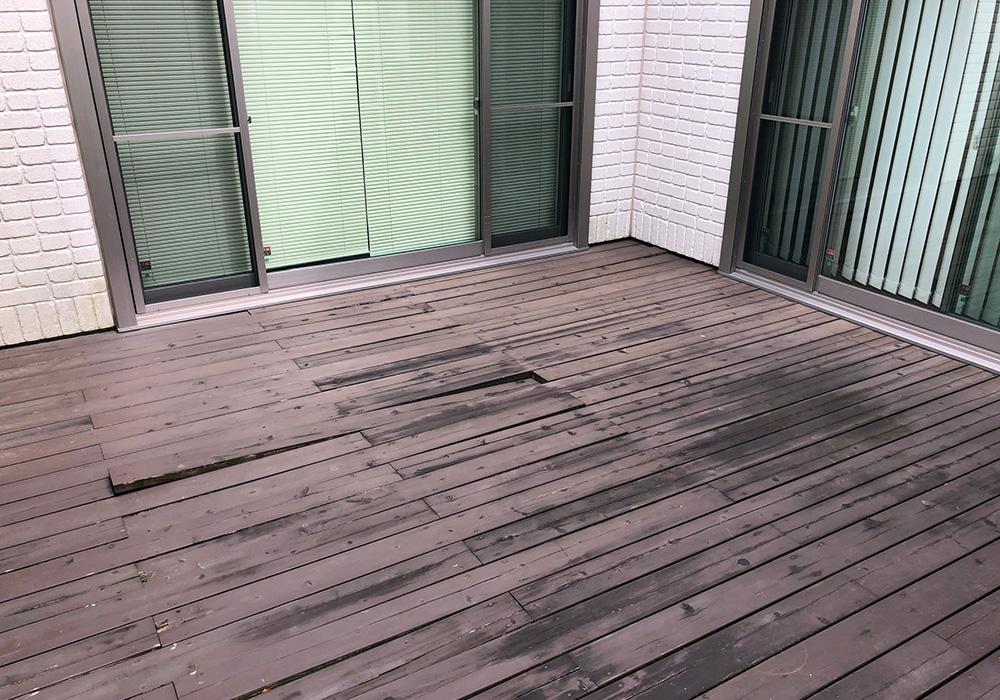 千葉県柏市の戸建てウッドデッキ奥側(施工前)
