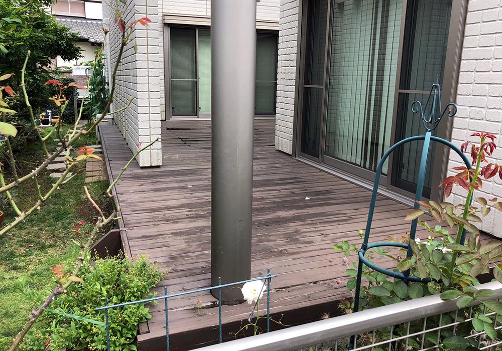 千葉県柏市の戸建てウッドデッキ全体(施工前)