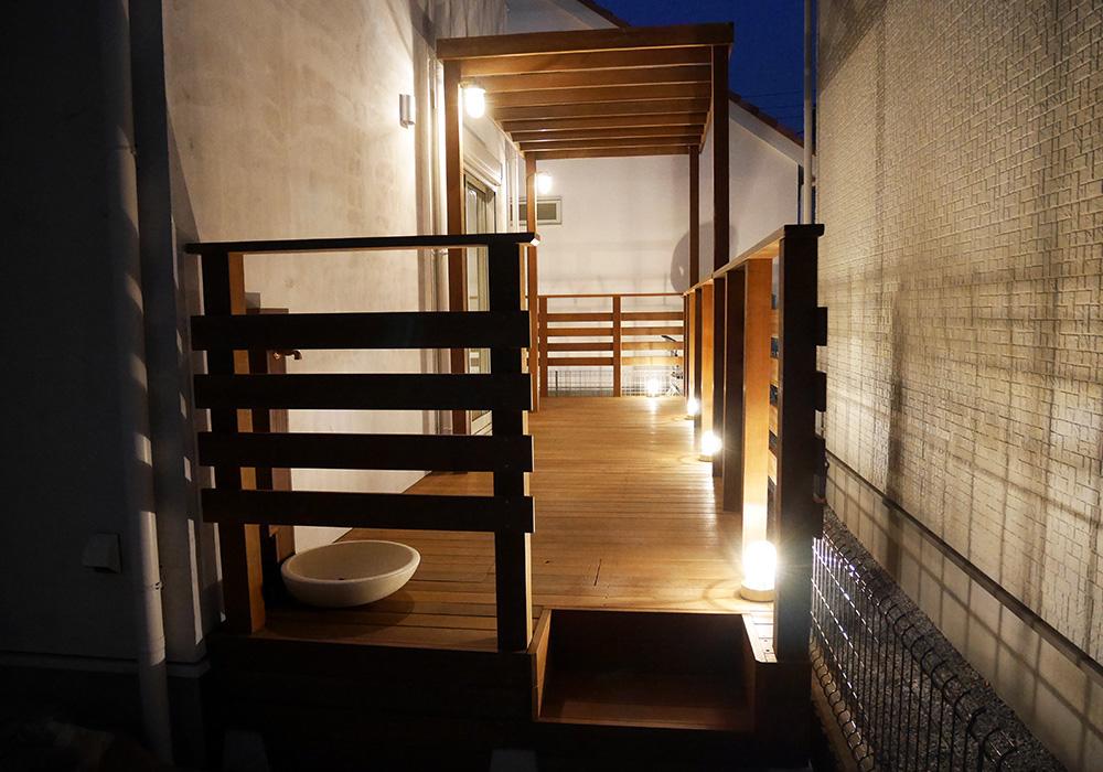 千葉県流山市の戸建てウッドデッキ施工例1
