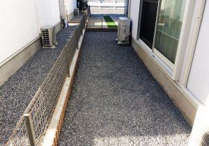 千葉県流山市の戸建てウッドデッキ右から(施工前)