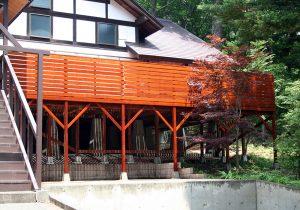 栃木県那須町の別荘ウッドデッキ施工例2大型