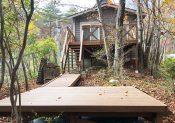 栃木県那須町の別荘ウッドデッキ施工例6