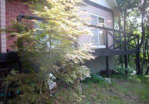 栃木県那須の別荘ウッドデッキ(施工前)