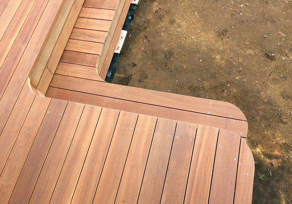 茨城県小美玉市の戸建てウッドデッキ施工例3