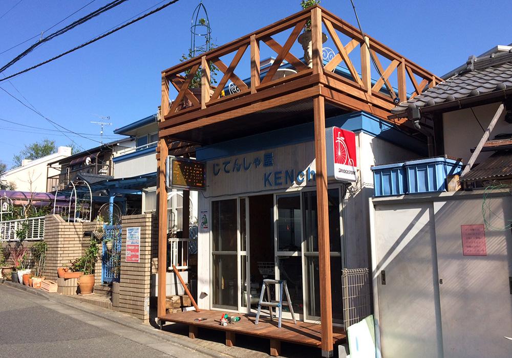 埼玉県さいたま市の戸建てウッドデッキ施工例1