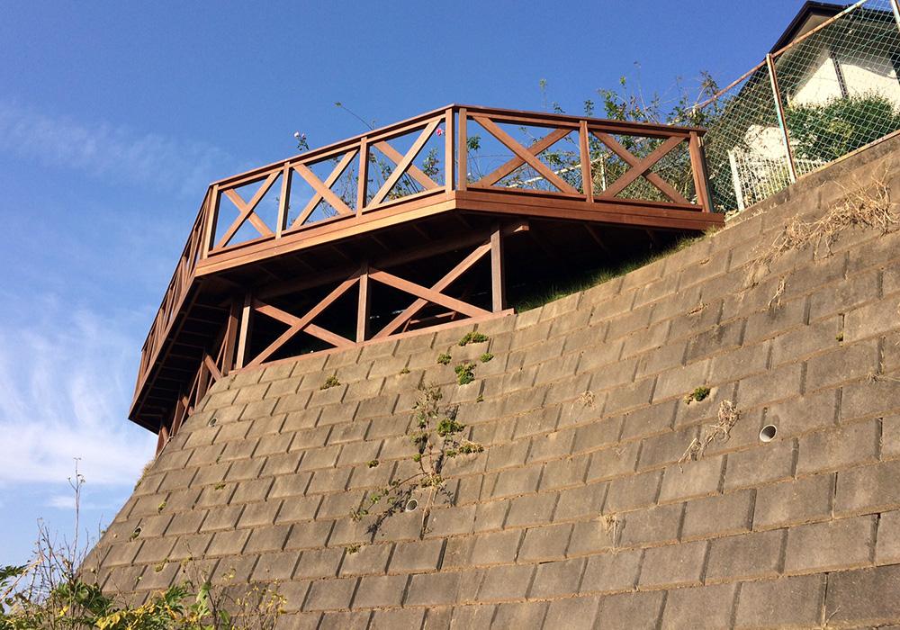 茨城県土浦市空中デッキ1フェンス下から2