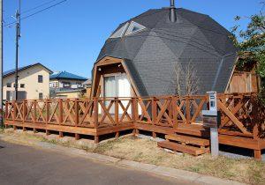 茨城県つくば市の戸建てウッドデッキ施工例1
