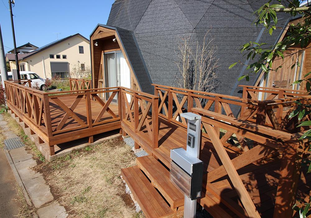 茨城県つくば市の戸建てウッドデッキ施工例2