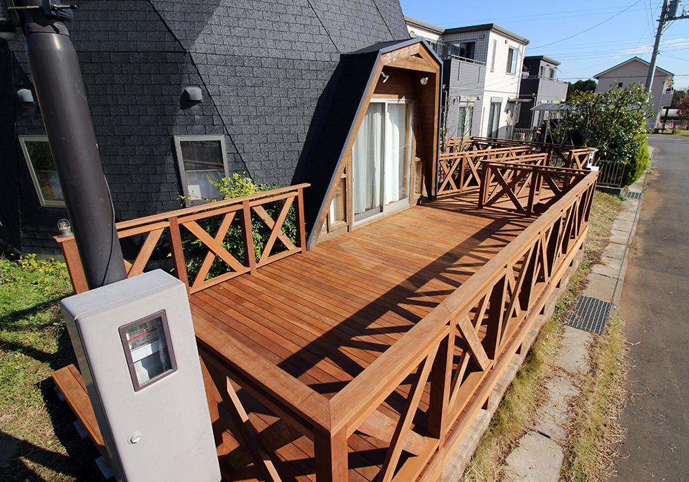 茨城県つくば市の戸建てウッドデッキ施工例3