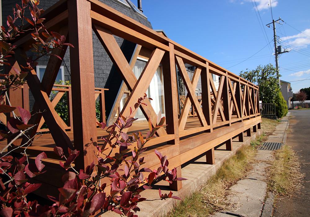 茨城県つくば市の戸建てウッドデッキ施工例5