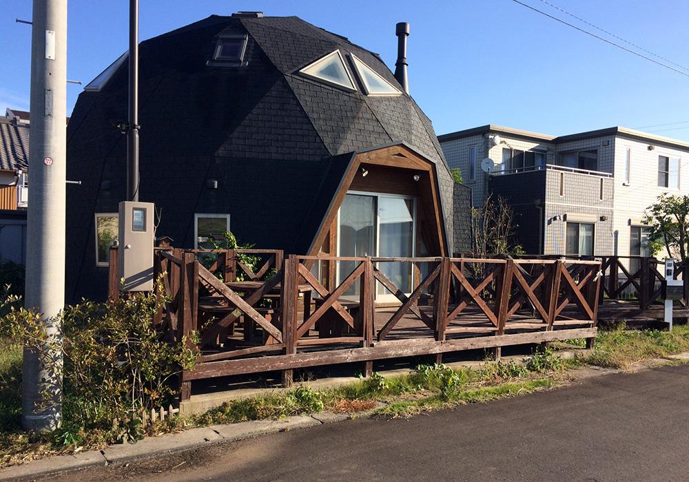 茨城県つくば市の戸建てウッドデッキ全体(施工前)