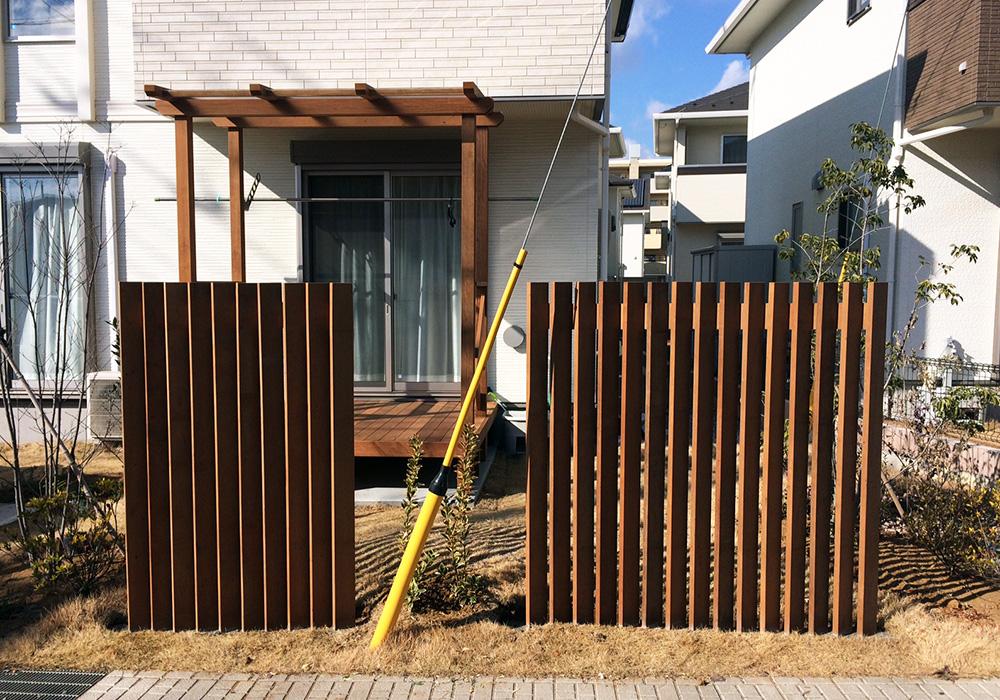 茨城県つくばみらい市の戸建てウッドデッキ1