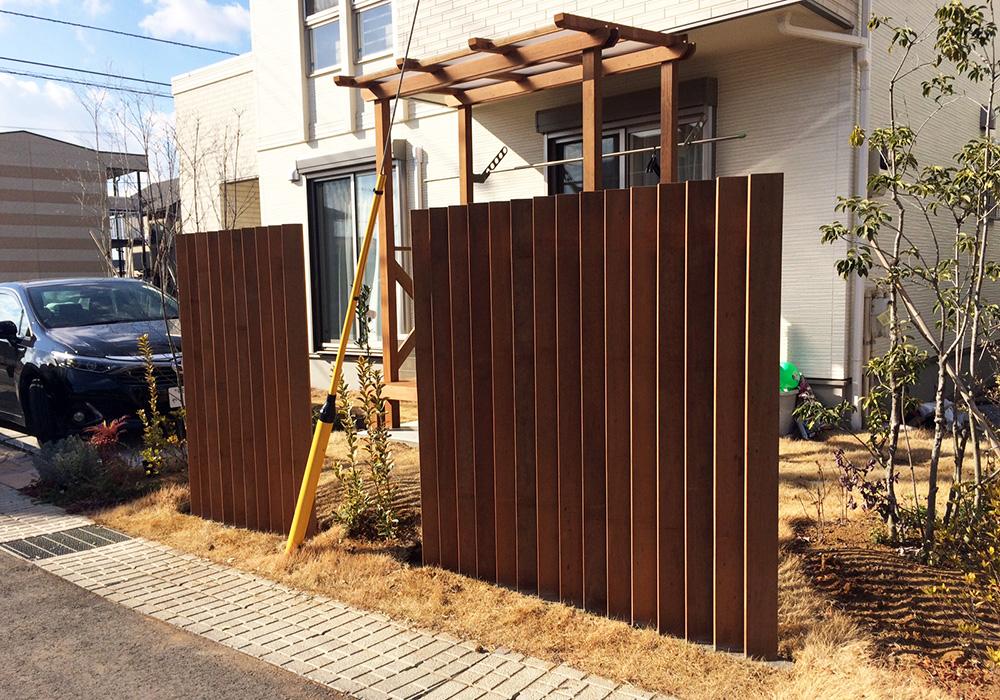 茨城県つくばみらい市の戸建てウッドデッキ2