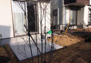 茨城県つくばみらい市の戸建てウッドデッキ庭(施工前)