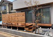 千葉県浦安市の戸建てウッドデッキ1