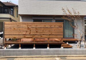 千葉県浦安市の戸建てウッドデッキ正面(施工後)