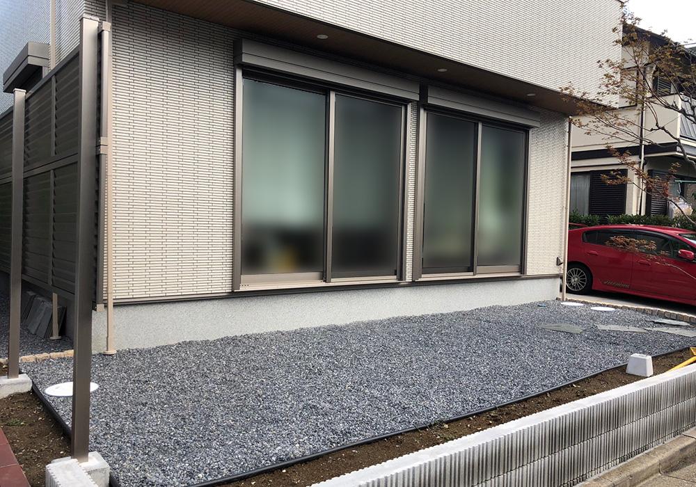 千葉県浦安市の戸建てウッドデッキ右から(施工前)
