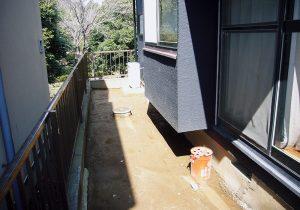 千葉県八千代市サイプレス材ウッドデッキ(施工前)