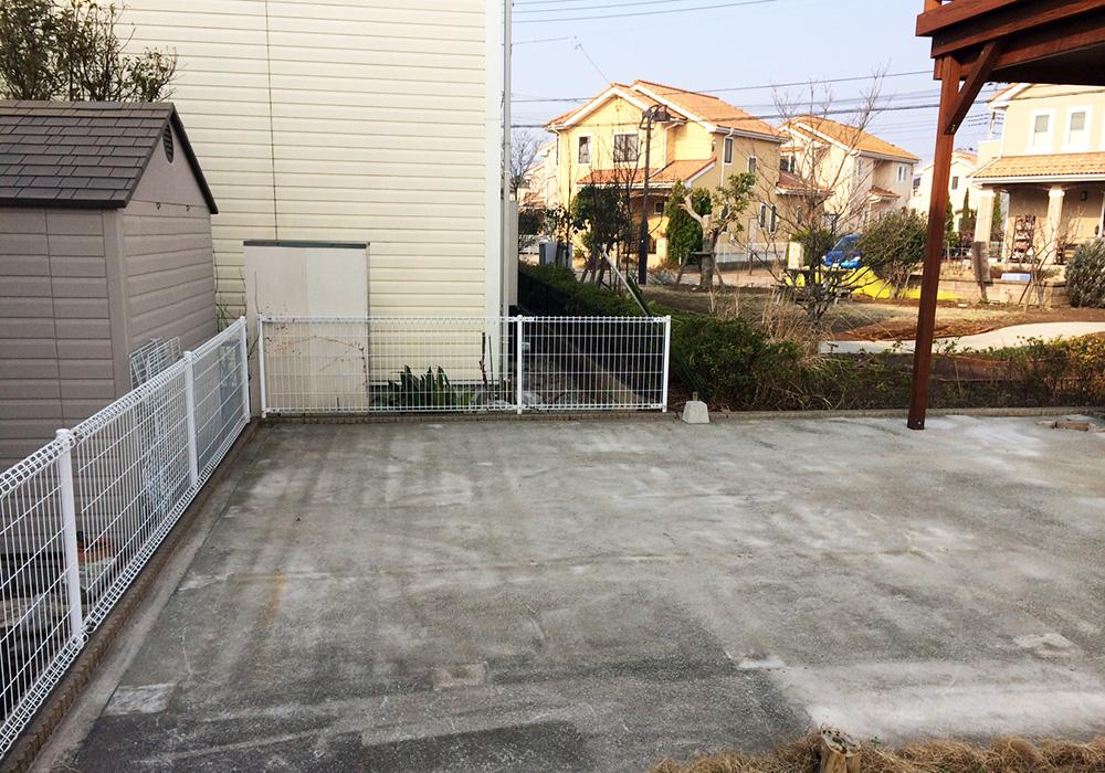 埼玉県吉川市の戸建てウッドデッキ(施工前)