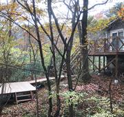イペ材を使用した栃木県那須郡那須町の別荘ウッドデッキ施工