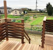 イペ材を使用した茨城県ひたちなか市のベランダバルコニーデッキ施工