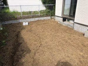 東京都八王子市のウッドデッキ建物左から(施工前)