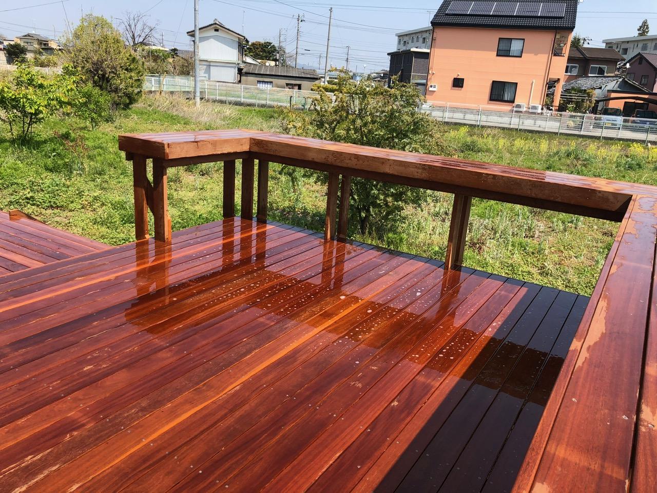 群馬県太田市の大型ウッドデッキテーブル2