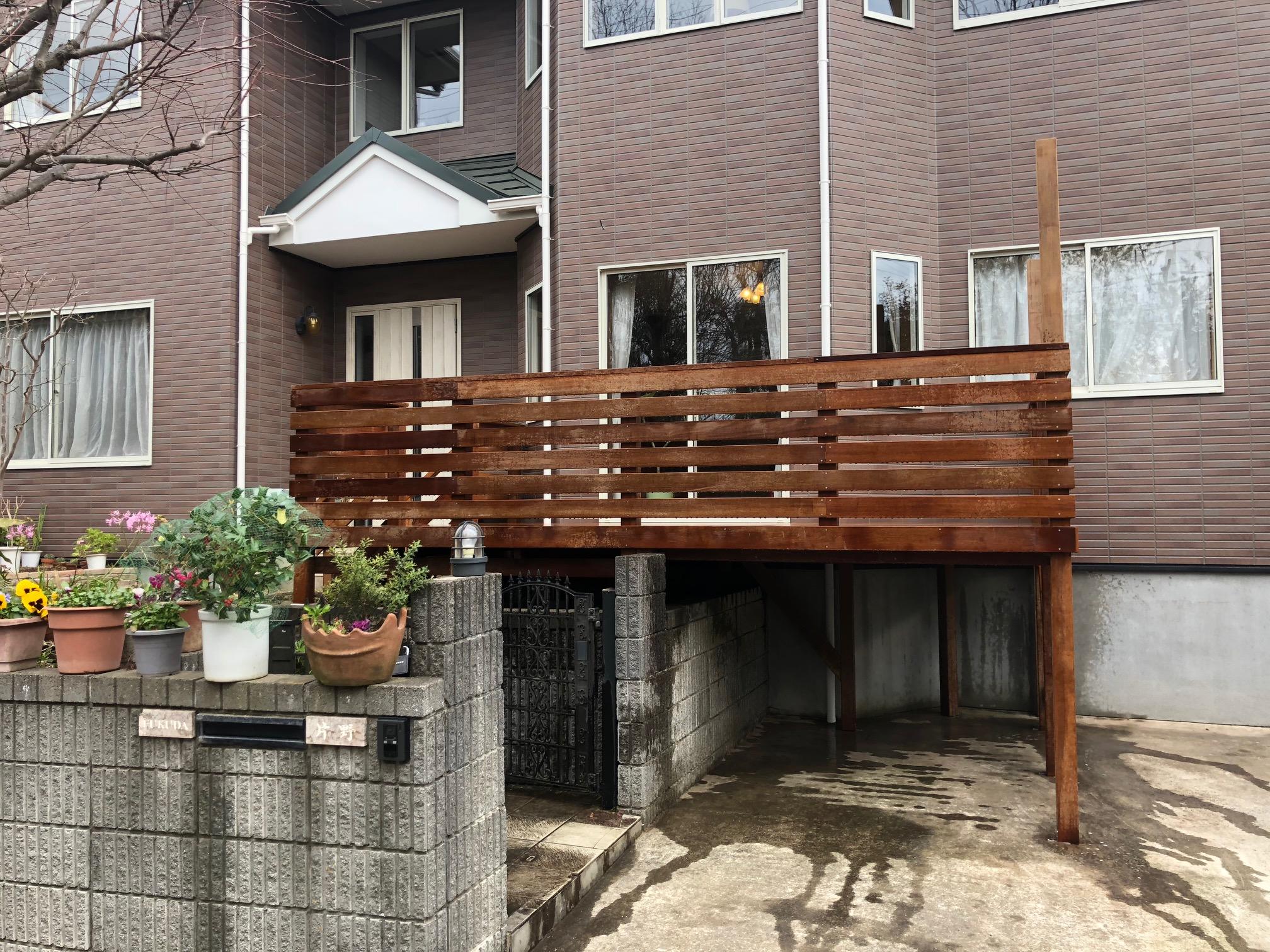 茨城県龍ヶ崎市の戸建てウッドデッキ2
