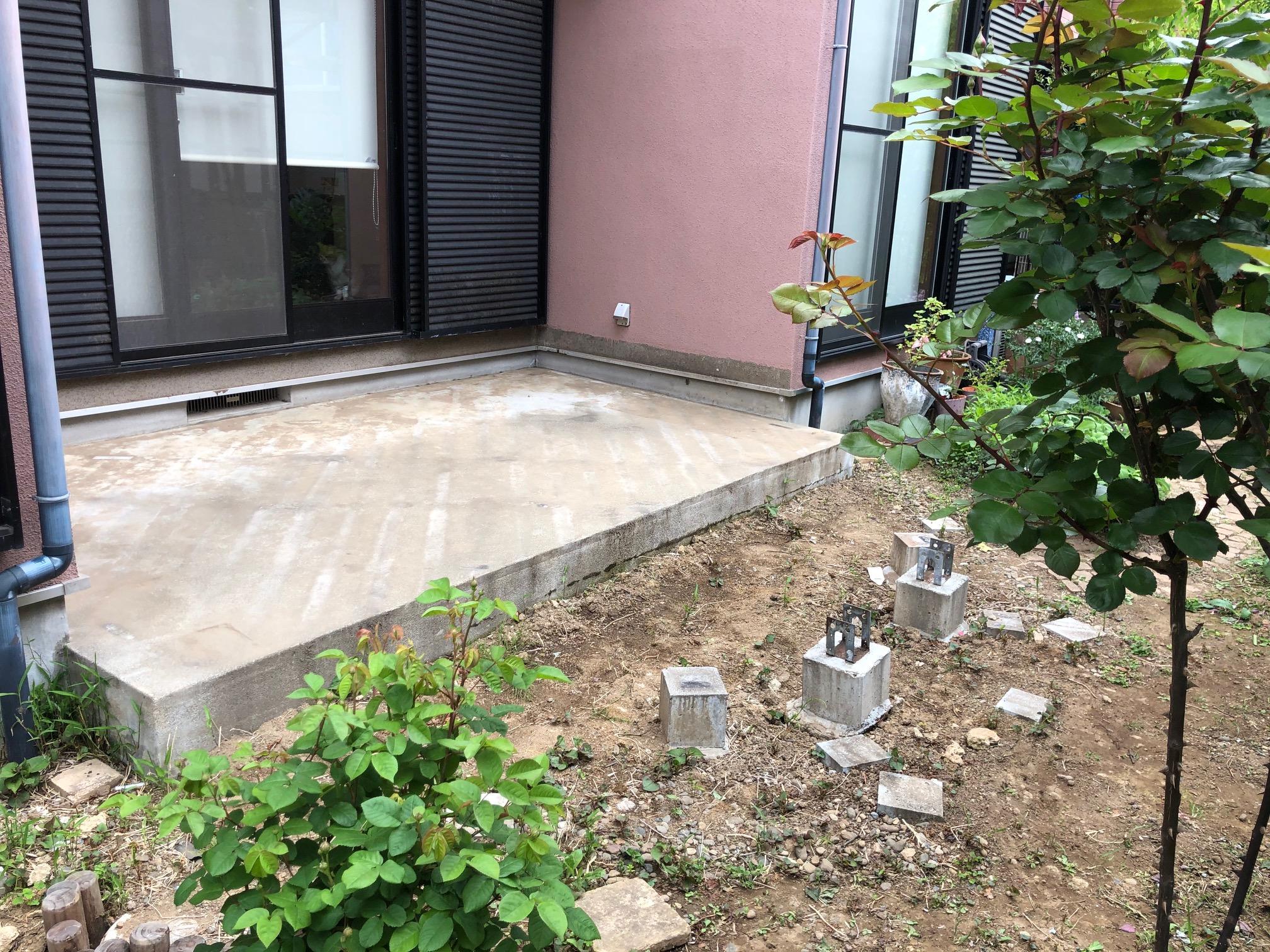 茨城県守谷市の戸建てウッドデッキ2(施工前)
