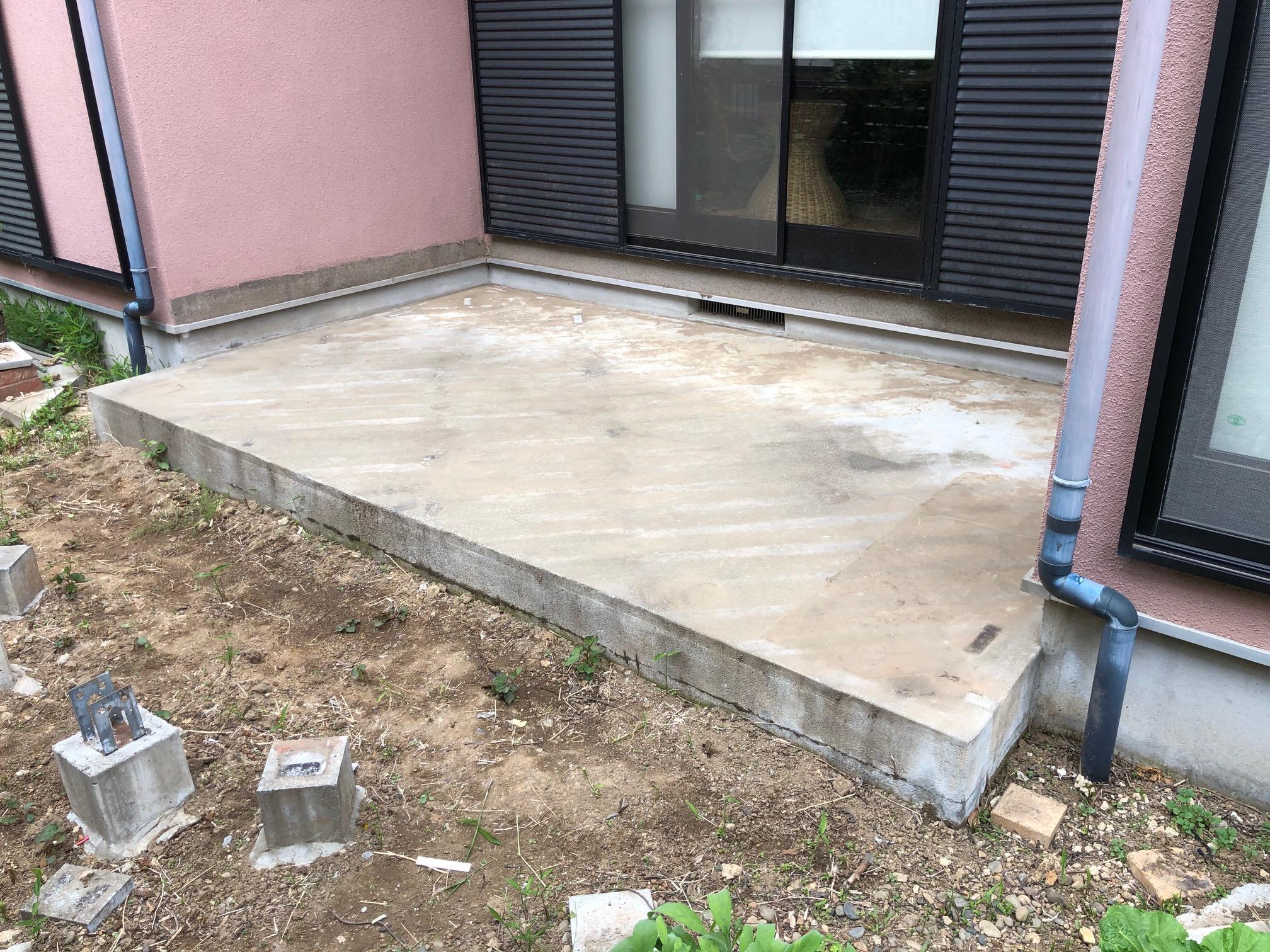 茨城県守谷市の戸建てウッドデッキ2-1(施工前)