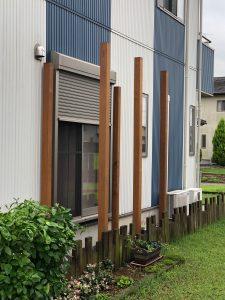 茨城県下妻市のイタウバ材のウッドフェンス(施工前)