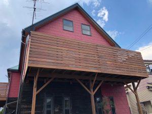 ウリン材を使用した千葉県柏市のベランダバルコニーデッキ施工例