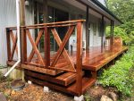 栃木県那須町のウリン材を使用した別荘ウッドデッキ施工