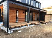 茨城県笠間市のイタウバ材ウッドデッキ施工