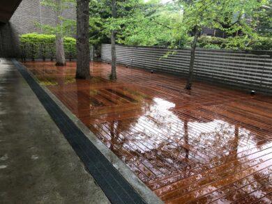 軽井沢の別荘ウッドデッキ施工