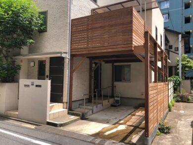東京都のガレージデッキ施工例