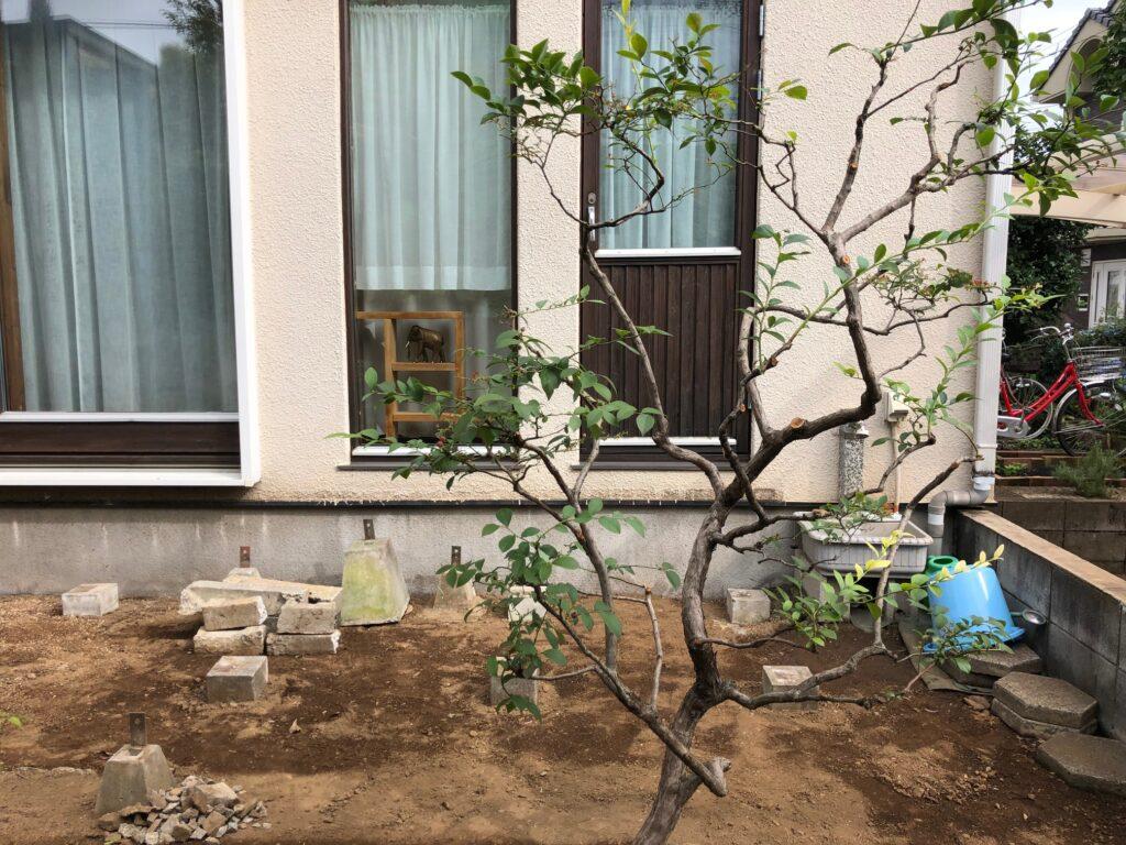 埼玉県さいたま市で使えなくなったウッドデッキを撤去した状態