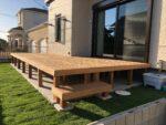 茨城県取手市の一戸建て住宅にセランガンバツー材を使用したウッドデッキを設置