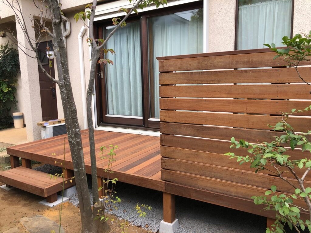 埼玉県さいたま市のウッドデッキ設置後の様子